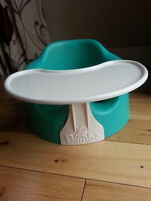 Bumbo Floor Seat With Safety Straps And Removable Tray Aqua Green Immaculate