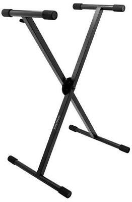 On Stage Pro Heavy Duty Single X-Braced Ergo-Lok Keyboard Stand
