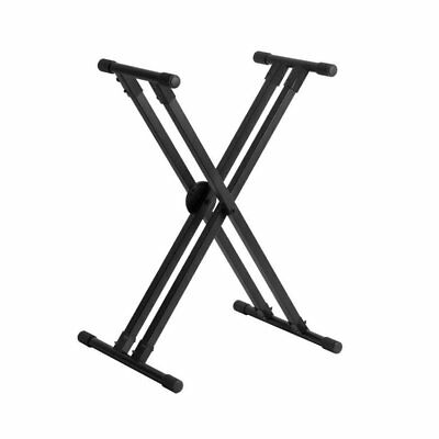 On Stage Lok-Tight Pro Double-X ERGO-LOK Keyboard Stand