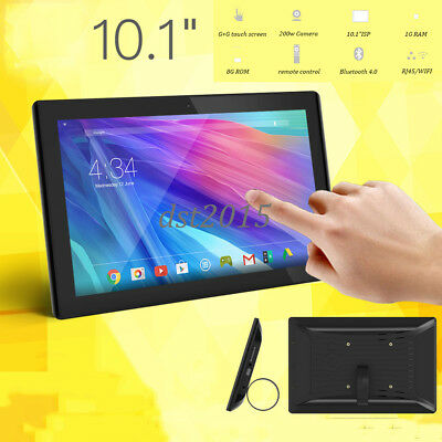 """10.1"""" Black IPS HD Touch Screen Digital Photo Frame Android Wifi/RJ45 Ad Tablet"""