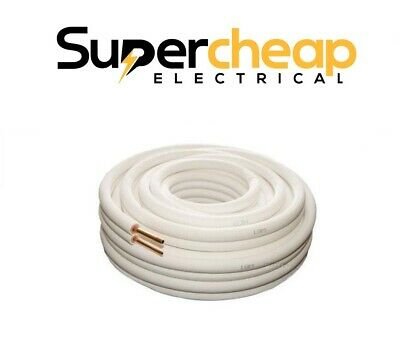 Air Conditioner Pair Coil Tube Insulated Copper Pipe Twin Pair 5 metre All Sizes
