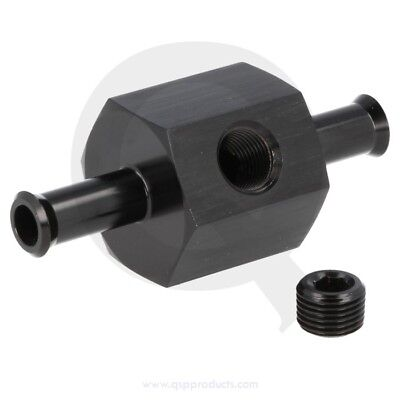 "Fuel pressure conn. with 1/8""port - 10mm - Black"