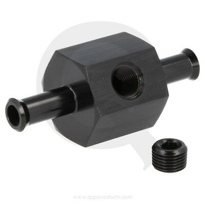 """Fuel pressure conn. with 1/8""""port - 8mm - Black"""