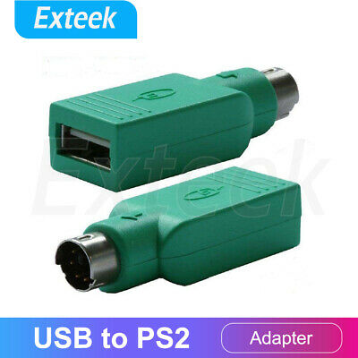 USB TO PS2 PS/2 Adapter Connector PC Mouse Keyboard