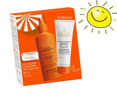 Collistar Kit Solare Latte Spray Abbronzante Spf15 + In Regalo Balsamo Doposole