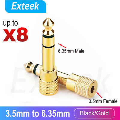 3.5mm Female to 6.5mm Male Headphone Adapter Guitar Jack Socket Plug Converter