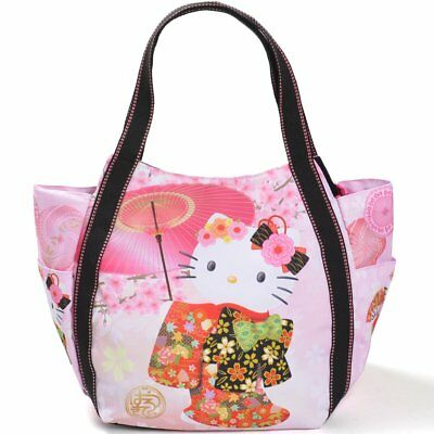3e035cd07e3a Hello Kitty Tote Bag Mother s Bag Kimono Sakura Japanese Pattern Sanrio  Japan