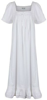 "The 1 For U - 100% Cotton Nightdress - Evelyn ""White"" - Size X-Large"