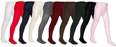 New *2 Pair Value* Baby Toddler Plain Knitted Nifty Back To Nursery Warm Tights