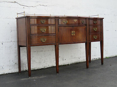 Tall Long Mahogany Server Sideboard Buffet TV Cabinet by Thomasville 6520