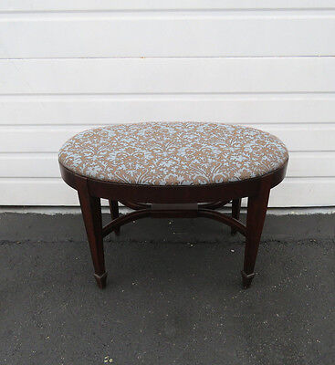 Mahogany Upholstered Stool Vanity Bench by Table Rock Furniture 8483