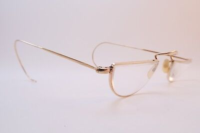 Vintage gold filled half eye reading eyeglasses ALGHA coil arms made in England