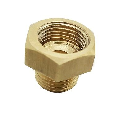 3/8 NPT Male x 5/8 UNF Female Brass Hex Reducing Bushing Adapter Pipe Fitting
