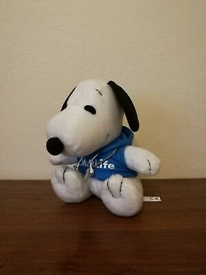 "Metlife Peanuts Snoopy Dog Coach Hoodie Whistle Plush Doll Stuffed 6.5""VERY RARE"