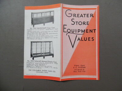 c.1920s Columbus Show Case Co. SALESCRAFT Display Case Catalog Brochure Vintage