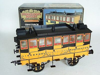 "Hornby Stephenson's Rocket 4 Wheel Coach ""Traveller"" G104, 3.5"" Gauge – Boxed"