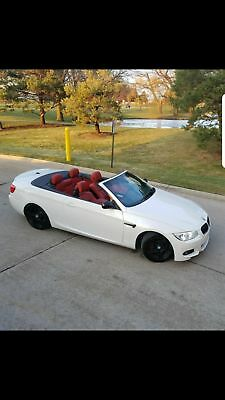 2013 BMW 3-Series 335is 2door convertible m sport 2013 white bmw convertible red leather interior 335is m3 m sport jb4 tuned