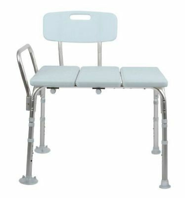 Medline Transfer Bench with Back, Knockdown, Microban **BOX IS DAMAGED**
