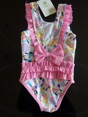 Disney MINNIE MOUSE Ice Cream Swimming Costume NWT