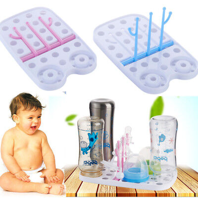 Baby Infant Kids Bottle Dryer Rack Kitchen Cleaning Drying Shelf Feeder Holder