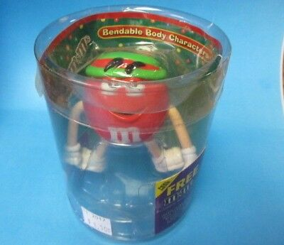 2004 M&M's Christmas RED Bendable Body Character Toy ~ NEW In Origional Pkg.