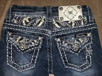 Girls Miss Me Boot Cut Jeans Size 7