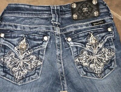 Girls Miss Me Boot Cut Jeans Size 8