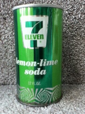 7 Eleven lemon-lime soda(74). Straight steel,pull top. No bar code or ml listed