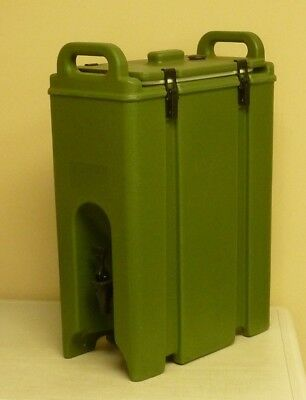 CAMBRO 5 Gallon Insulated Beverage Server 500LCD403 Army Green NEVER USED