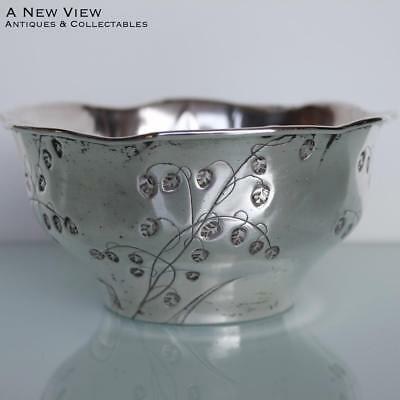 Art Nouveau BMF silver plated sugar bowl dish.