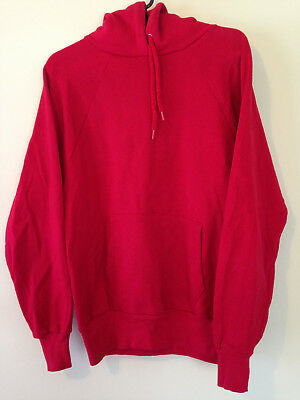 Vintage Hooded Sweatshirt - Medium - Red Hoodie