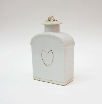 Antique Chinese export porcelain tea caddy