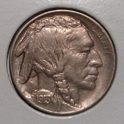 1913 D Type 1 Buffalo Nickel , Buffalo on Mound , AU
