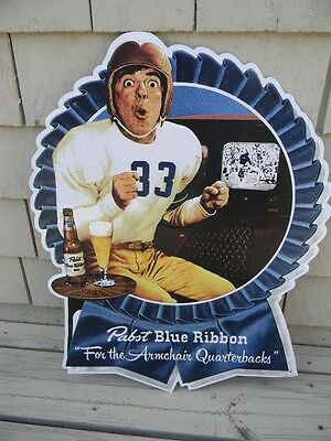 Pabst Blue Ribbon Beer Quarterback Football Tin Sign Milwaukee Wi. Tom Brady