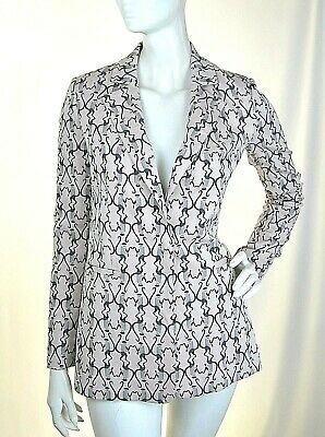 Giacca Donna PINKO Jacquard Jacket H546 Made in Italy Tono Beige Tg 42 46