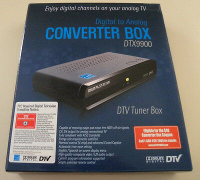 NEW Digital Stream Digital to Analog DTV Tuner Converter Box DTX9900 w/ Remote