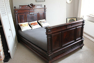 Rosewood French Louis XVI double bed