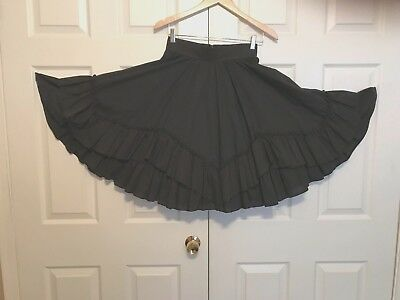 Square Dance Country Western Skirt Black M