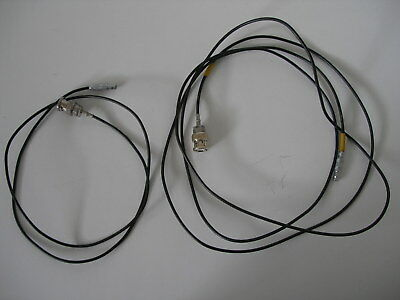 "2X LEMO 00 C5 to BNC Q9 Cable Male Plug Connector 6ft. and 35"" - USA SELLER"