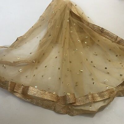 $10.9 Deal Party Wear white Dupatta Indian  Wedding / sangeet/party Women scarf