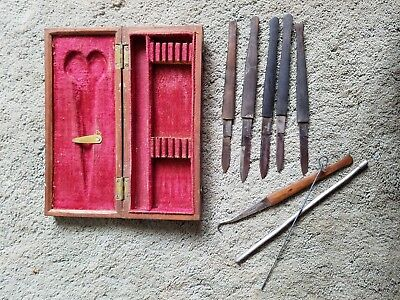 19th CENTURY MEDICAL ANTIQUE SCALPEL DISSECTING SURGEON MACABRE COLLECTOR KIT