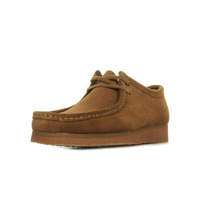 "Chaussures Bateaux Clarks homme Wallabee ""Cola"" taille Marron Cuir Lacets"