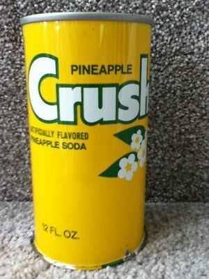 Unique Pineapple Crush Straight steel,pull top(still on).Bottom was never sealed