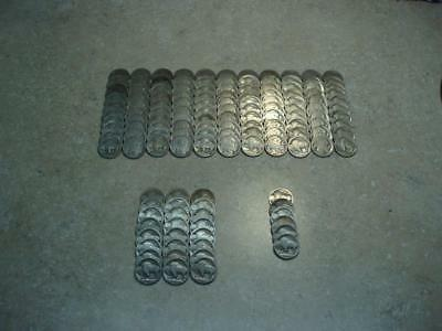 Large Lot of 140 1913 Type 1 Dateless Buffalo Nickels  P D S  Nearly 3 1/2 Rolls