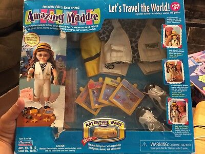 "Amazing Ally Maddie Interactive Play Set ""let's Travel The World"" (2001) Rare !"