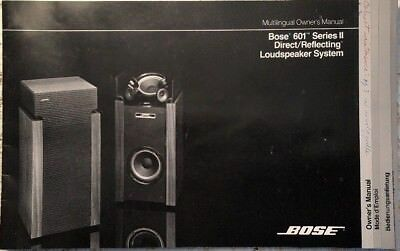 bose 901 series ii speaker system original owner s manual m030 rh picclick com Bose 901 Active Equalizer Manual Bose 901 Series II Manual