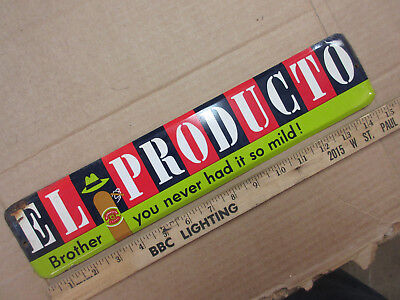 vintage EL Producto tin sign cigar store door push plate advertising tabacco old