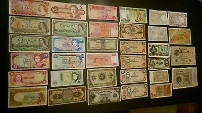 34 World Mix=Duplicates,  Foreign Banknotes Currency Lot, FINE/VF CIRCULATED