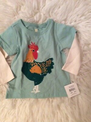 Tea Collection Baby Toddler Boy Rooster El Gallo T Shirt Top 12-18 New Nwt