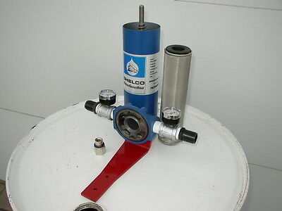 New 10 Micron Cleanable Filter w/Gauges, Hydraulic Oil, Diesel, Antifreeze, USA!